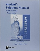 STUDENT SOLUTIONS MANUAL FOR THOMAS' CALCULUS, MULTIVARIABLE 14/E 2017 - 0134606051