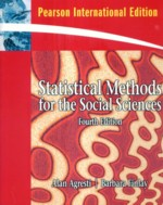 STATISTICAL METHODS FOR THE SOCIAL SCIENCES 4/E 2009 - 013713150X